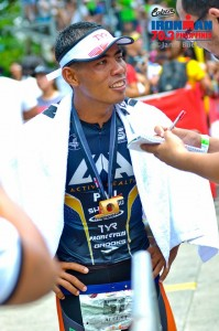 After race interview