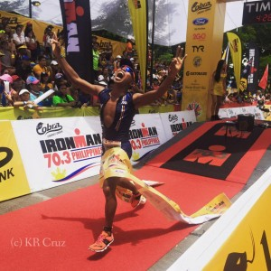Kristine Rachel Cruz Finish line